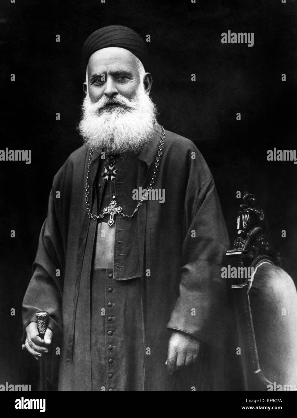 Medio oriente, Libano, ritratto di monsignor antoine pierre aride, patriarca maronita, 1920-30 Immagini Stock