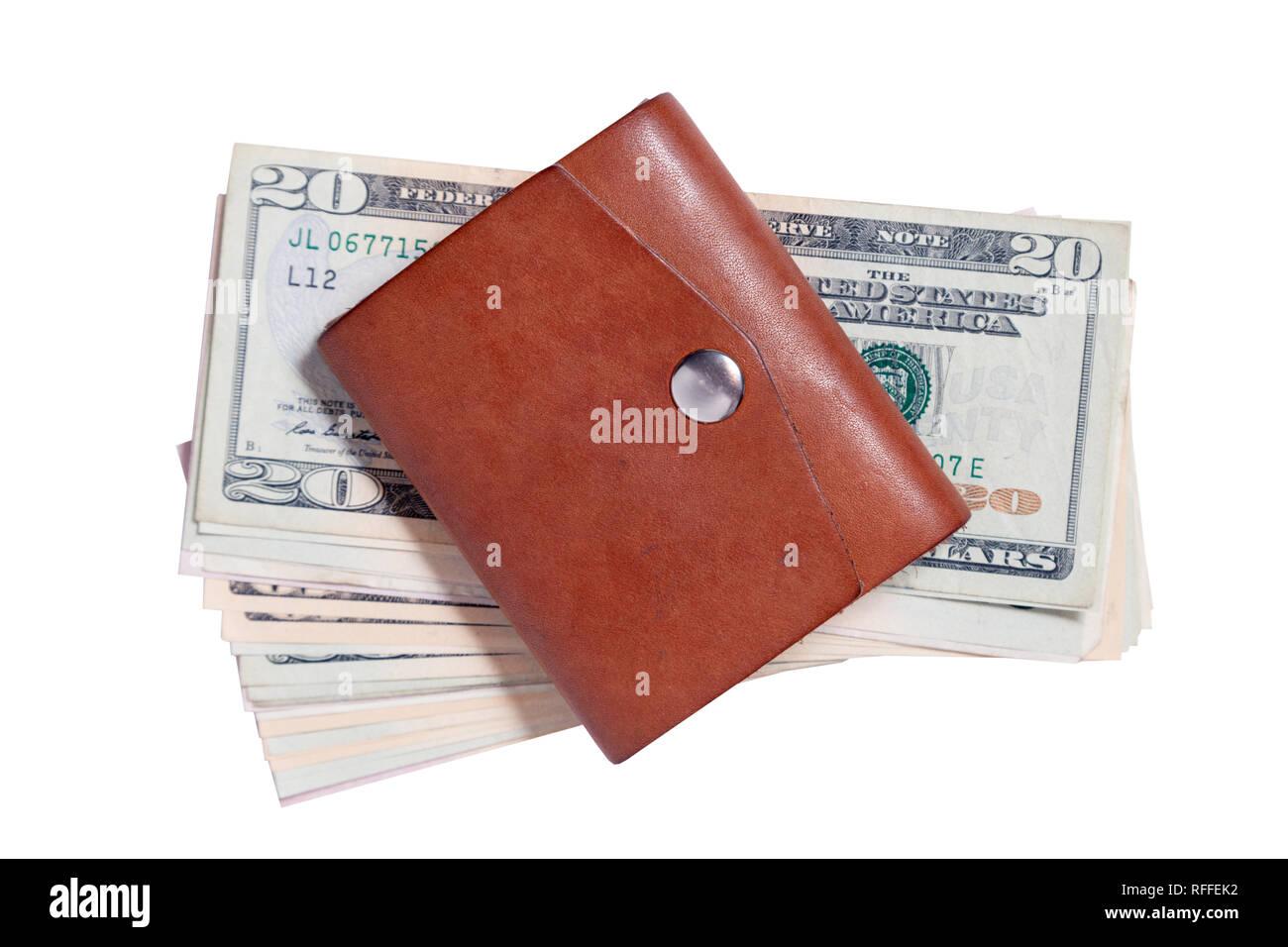disabilità strutturali super economico rispetto a nessuna tassa di vendita Closeup molti dollaro americano banconote chiusa in pelle ...
