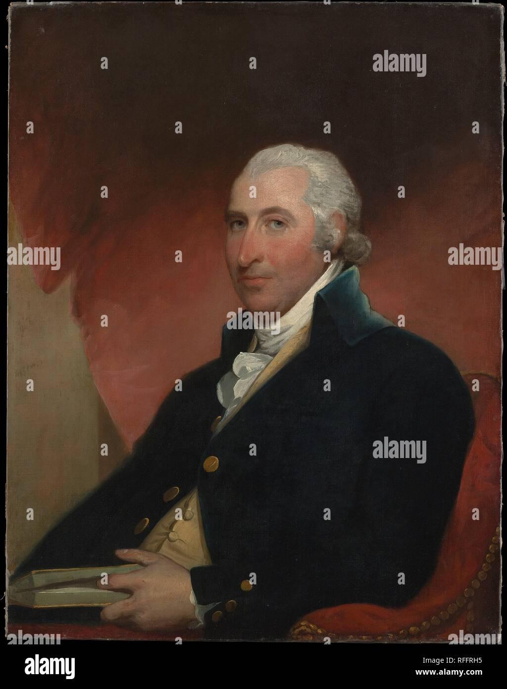 John Shaw. Artista: Gilbert Stuart (American, Nord Kingston, Rhode Island 1755-1828 Boston, Massachusetts). Dimensioni: 36 x 28 in. (91,4 x 71,1 cm). Data: 1793. Museo: Metropolitan Museum of Art di New York, Stati Uniti d'America. Immagini Stock