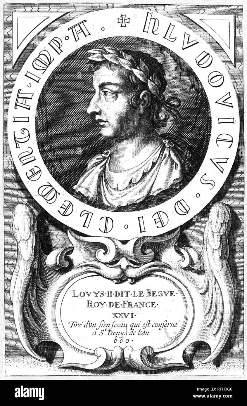 LOUIS IL STAMMERER (846-879), re di Aquitania e West Francia Immagini Stock