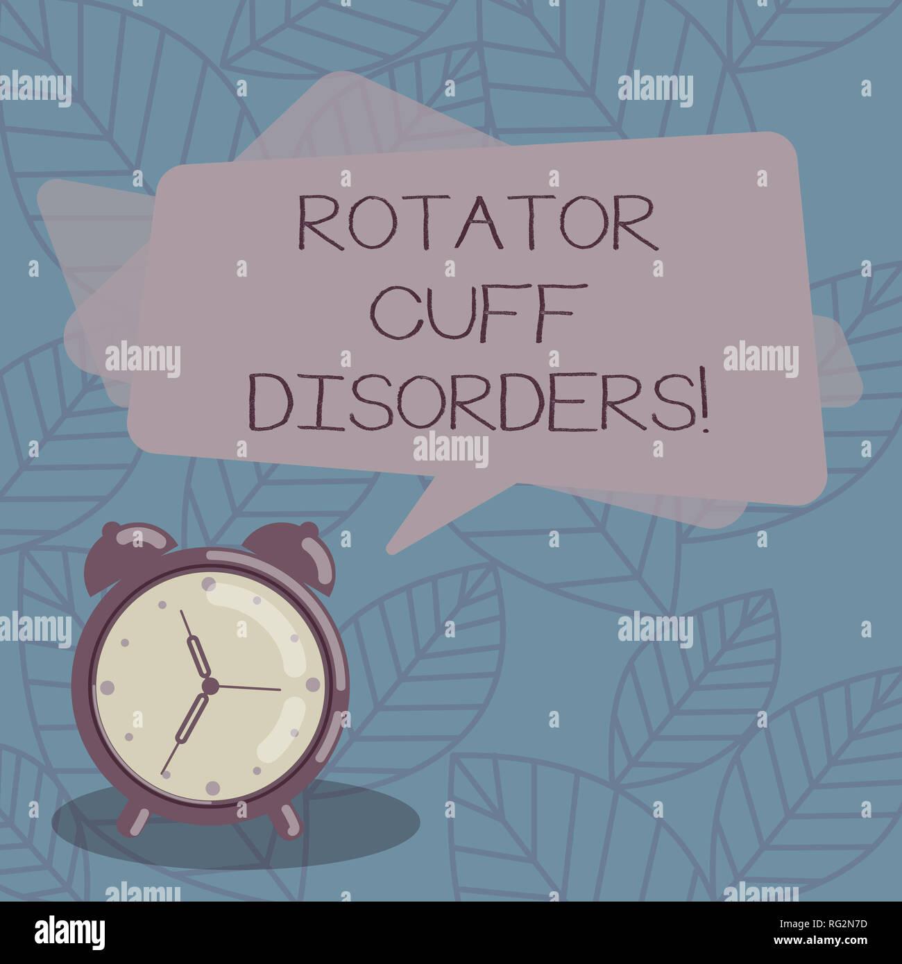 La scrittura della nota mostra della cuffia dei rotatori disturbi. Business  photo presentazione di tessuti fad306316c81