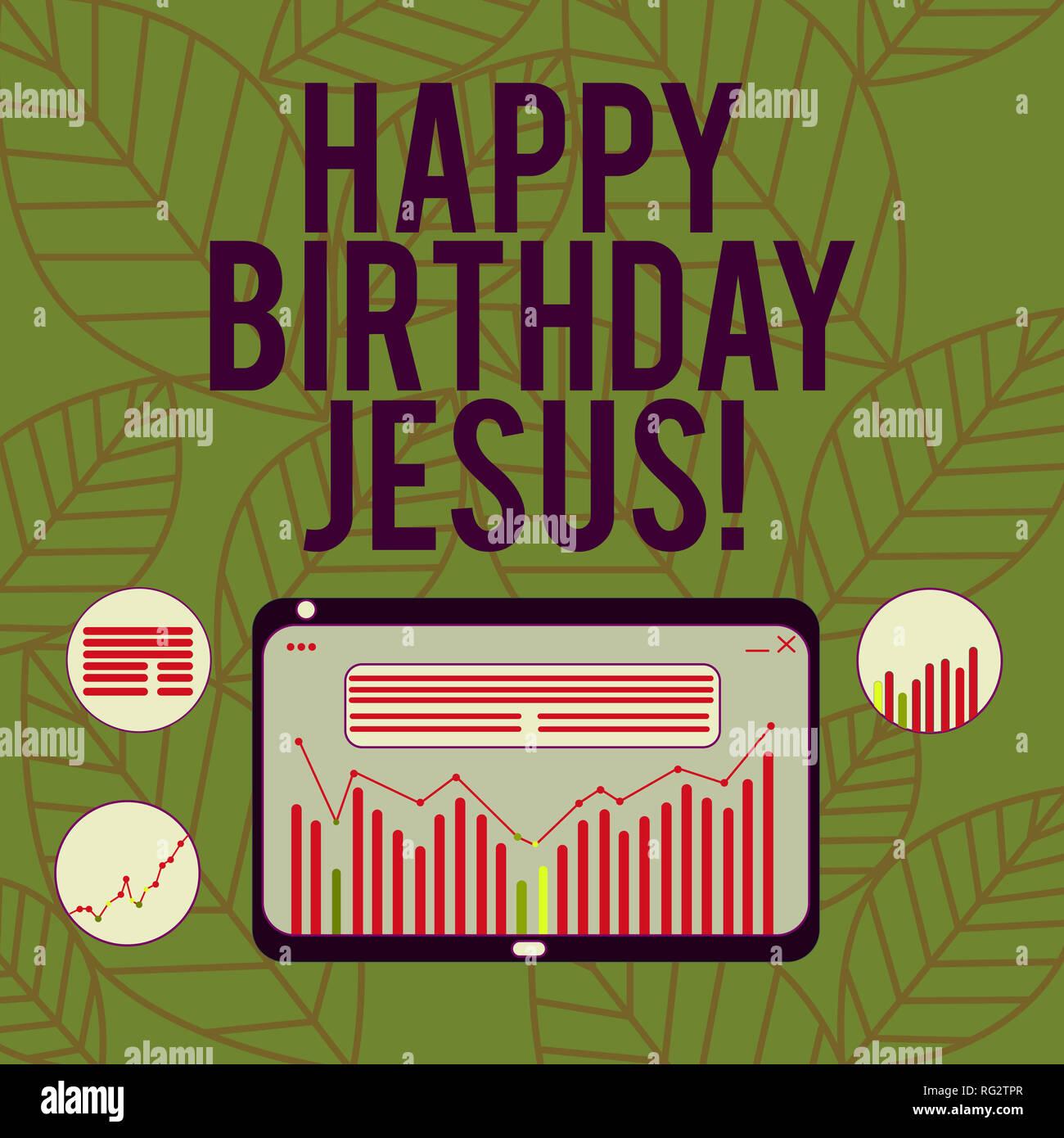Buon Natale Del C Testo.Conceptual La Scrittura A Mano Che Mostra Buon Compleanno Gesu