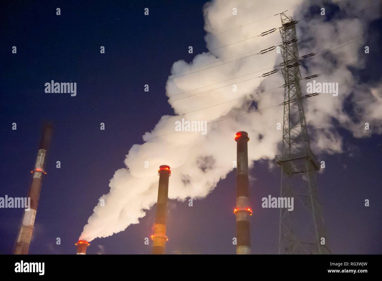 Gdansk Power Station (Elektrocieplownia Wybrzeze) in Gdansk, Polonia. Il 20 gennaio 2019 © Wojciech Strozyk / Alamy Stock Photo Immagini Stock