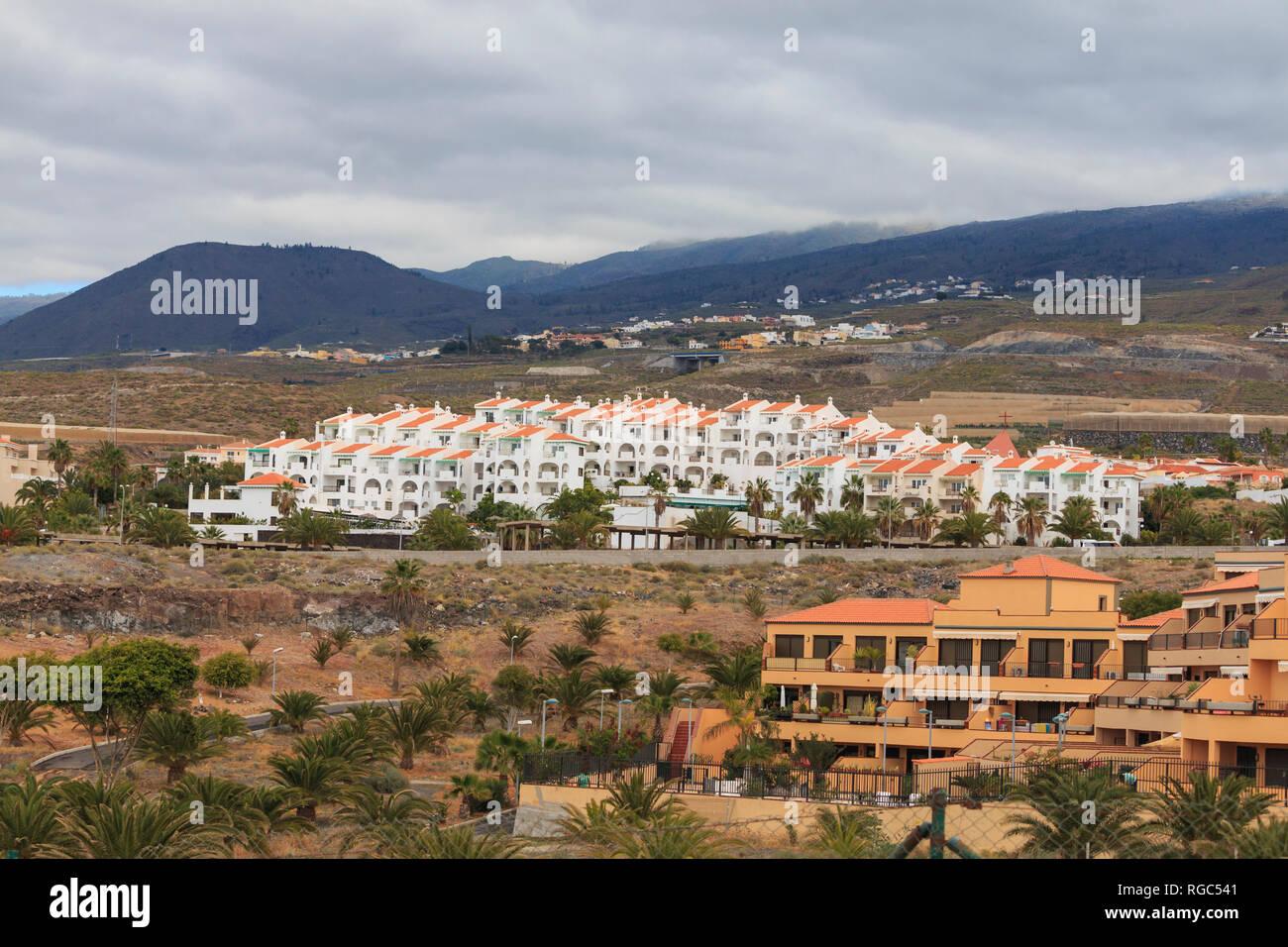 Callao Salvaje, Tenerife, appartamenti vicino vulcano Immagini Stock