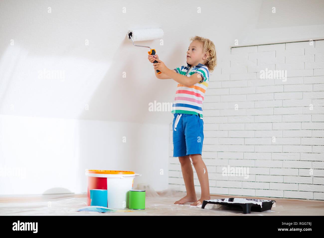 Vernici Cameretta Bambini : Pittura per bambini parete attico home miglioramento e