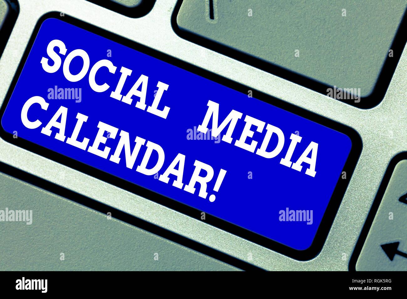 Calendario Significato.La Grafia La Scrittura Di Testo Social Media Calendario