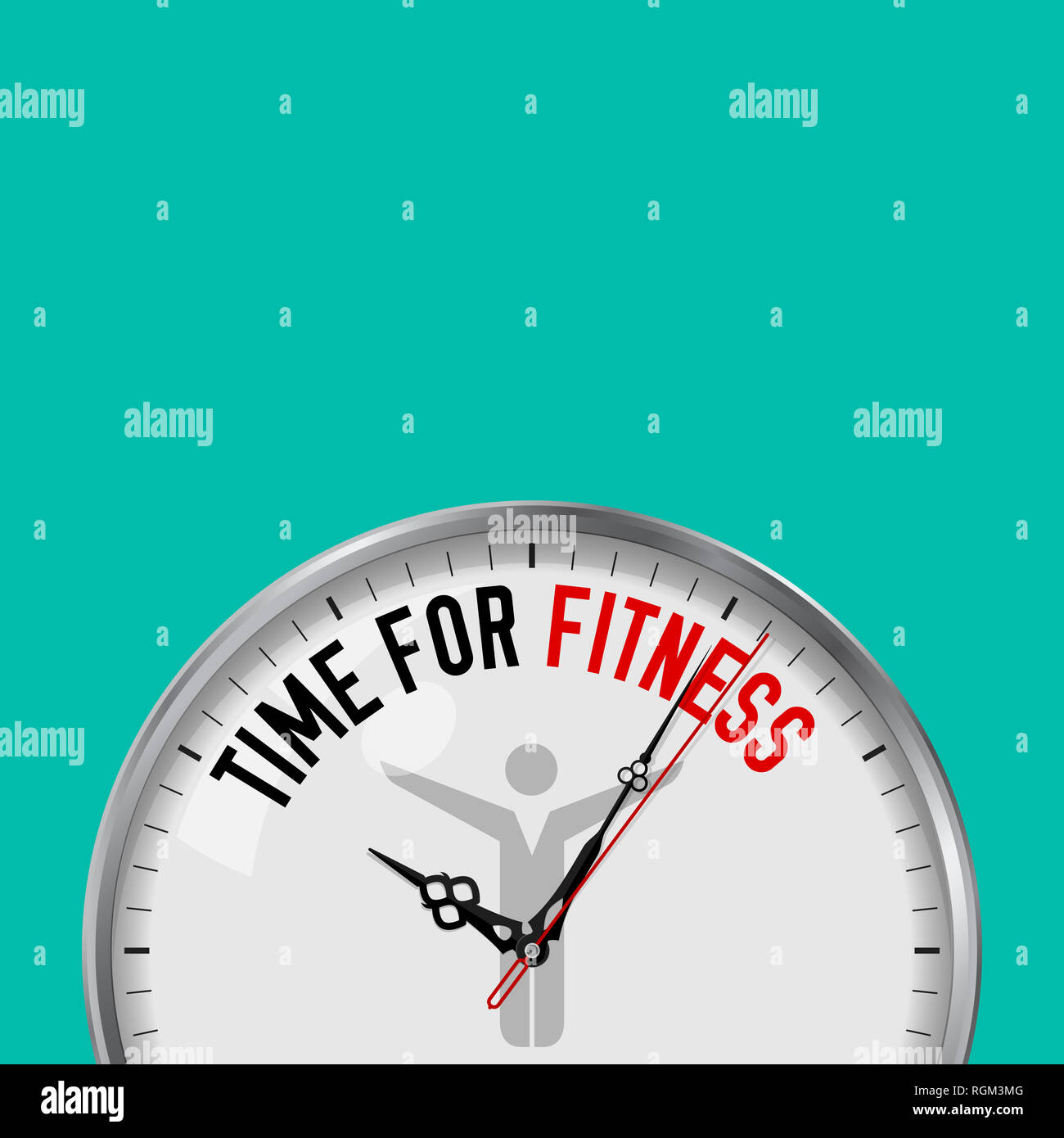 Tempo Per Il Fitness Orologio Bianco Con Slogan Motivazionali