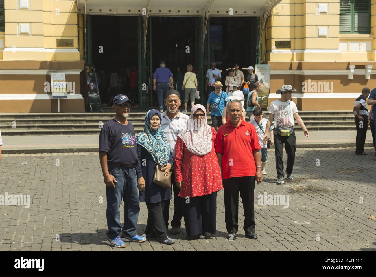 Il malese turisti in Ho Chi Minh in Vietnam Immagini Stock