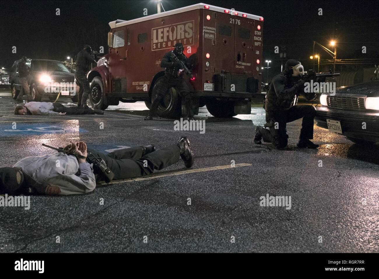 La rapina a mano armata scena spelonca di ladri (2018) Immagini Stock