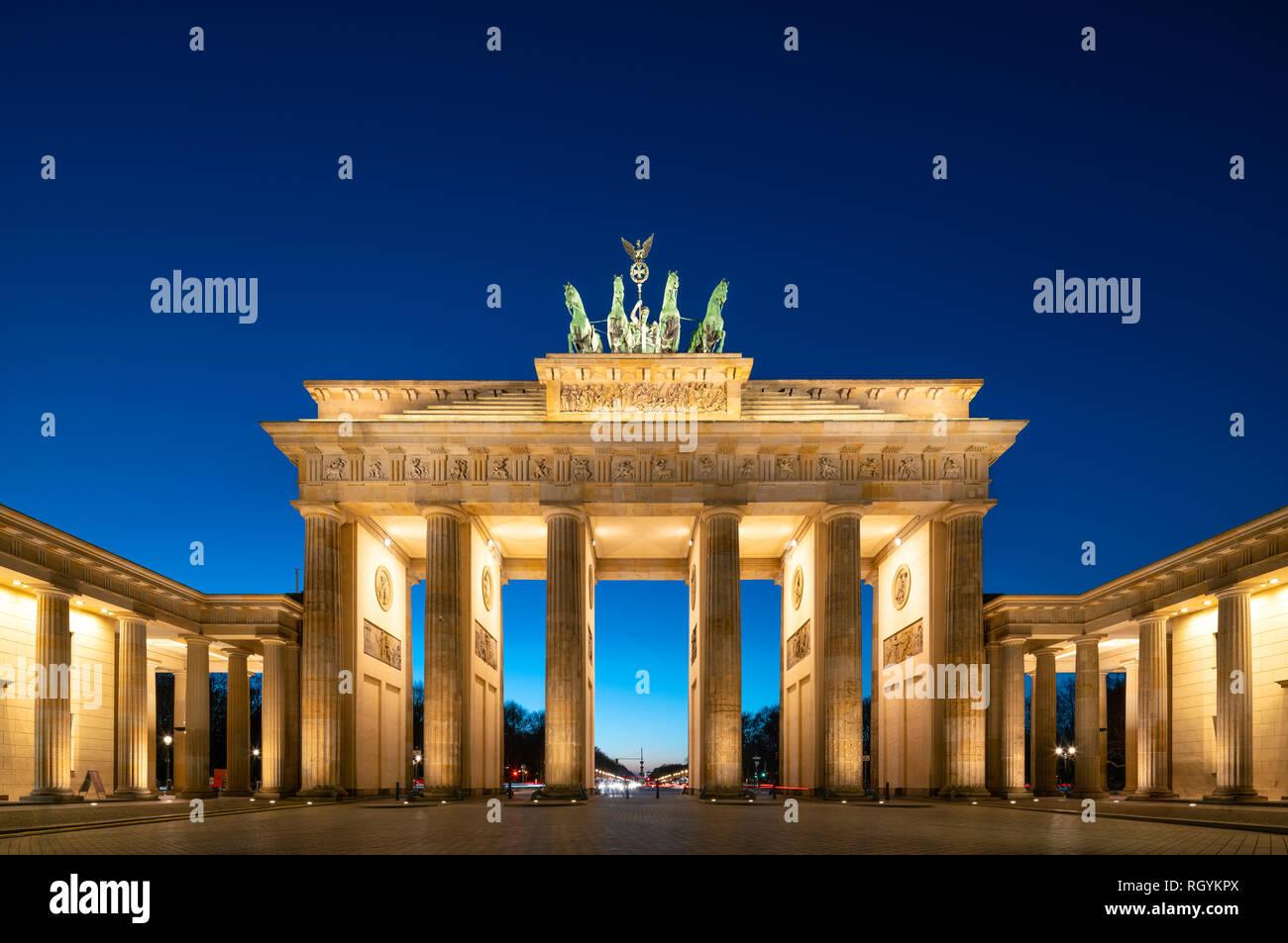 Berlino Germania Berlin Brandenburg Gate, Berlin Brandenburger Tor, Berlin Pariser Platz. Foto Stock