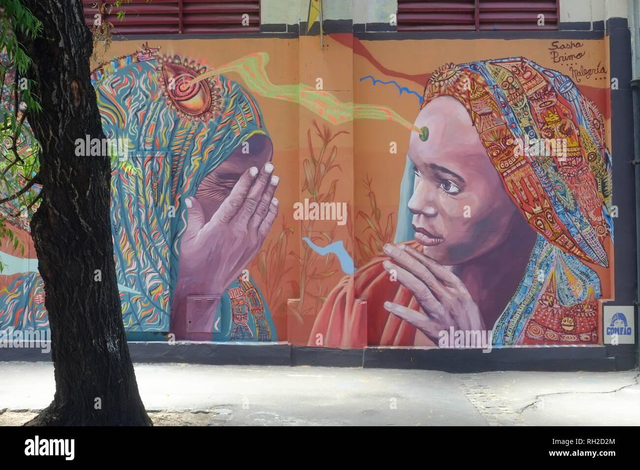 Street Art, Buenos Aires - empatia Immagini Stock