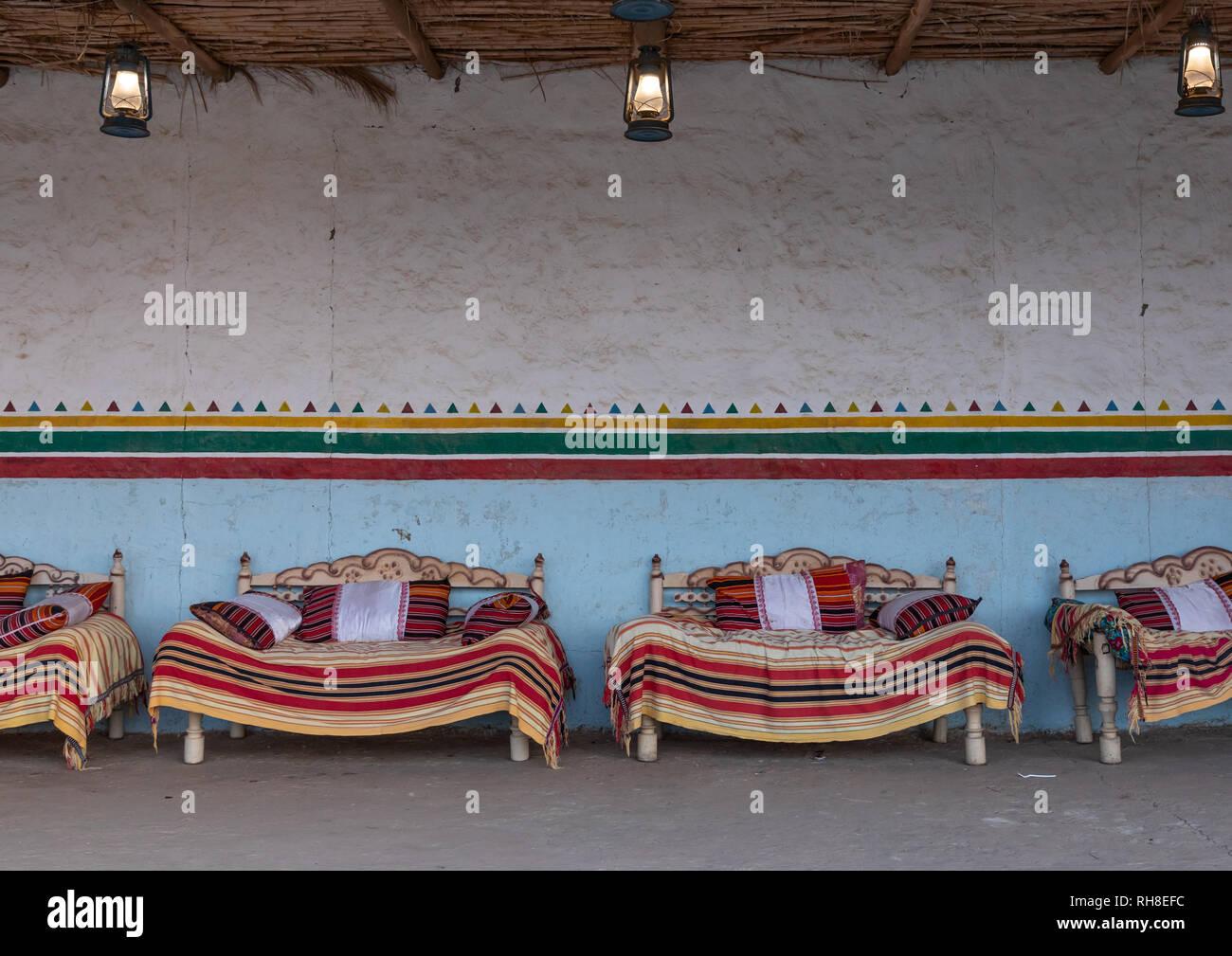 Tradizionale majlis, Jizan Provincia, Jizan, Arabia Saudita Immagini Stock