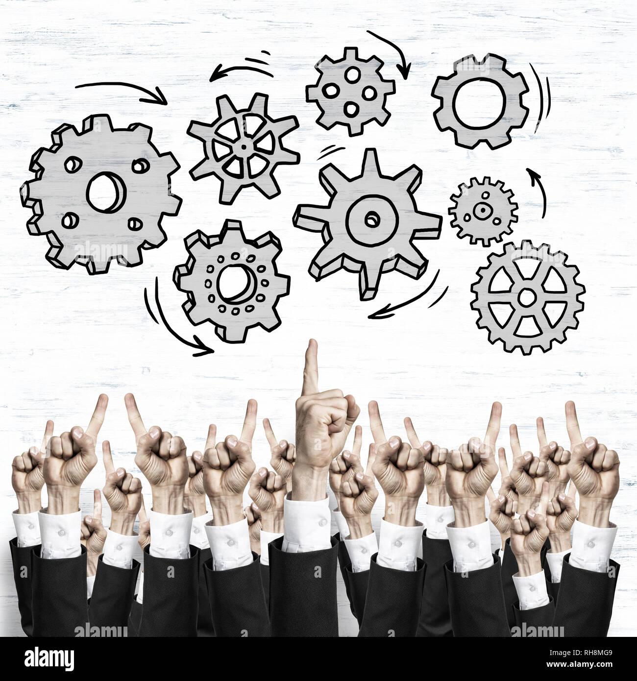 Aziende e Lavoro di squadra concetto Foto Stock