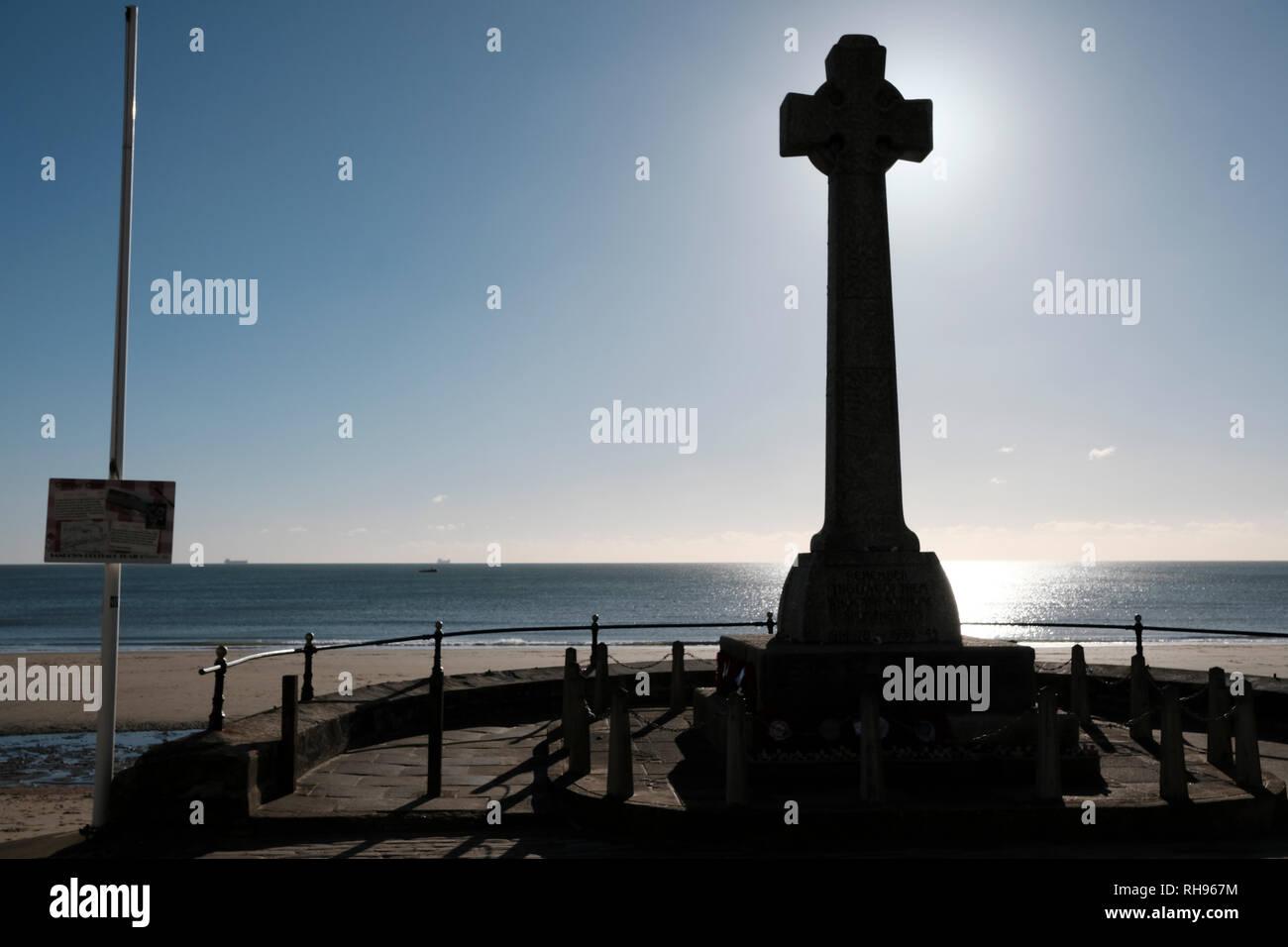 Il Memoriale di guerra, Sandown Bay, Sandown, Isle of Wight, Regno Unito Immagini Stock