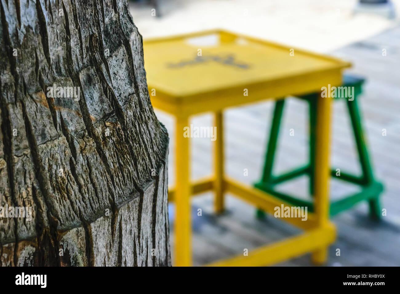 Sgabelli a fungo da tronco di botte in rovere usata home