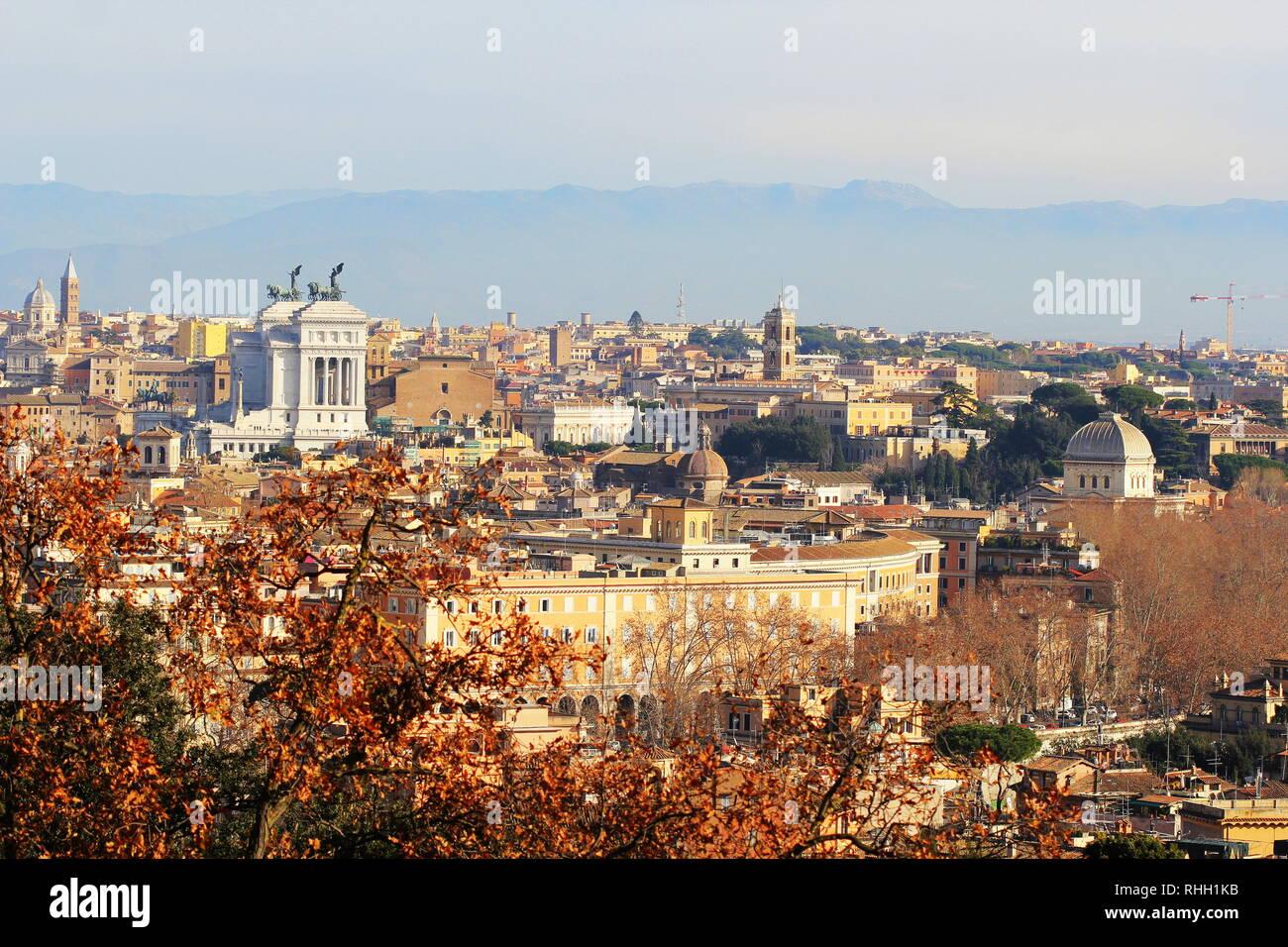 Roma Italia La Vista Della Città Dal Gianicolo E