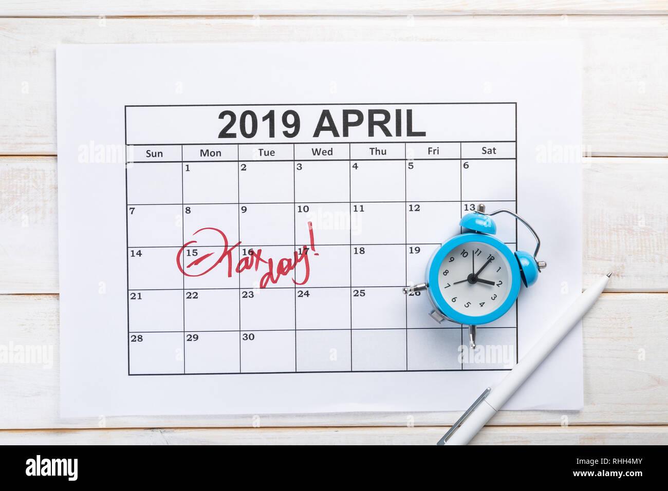 Imposta Calendario.Imposta Giorno Concetto Calcolatrice Calendario Sotto