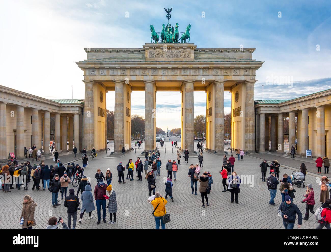 Berlin Brandenburg Gate, Berlin Brandenburger Tor Foto Stock