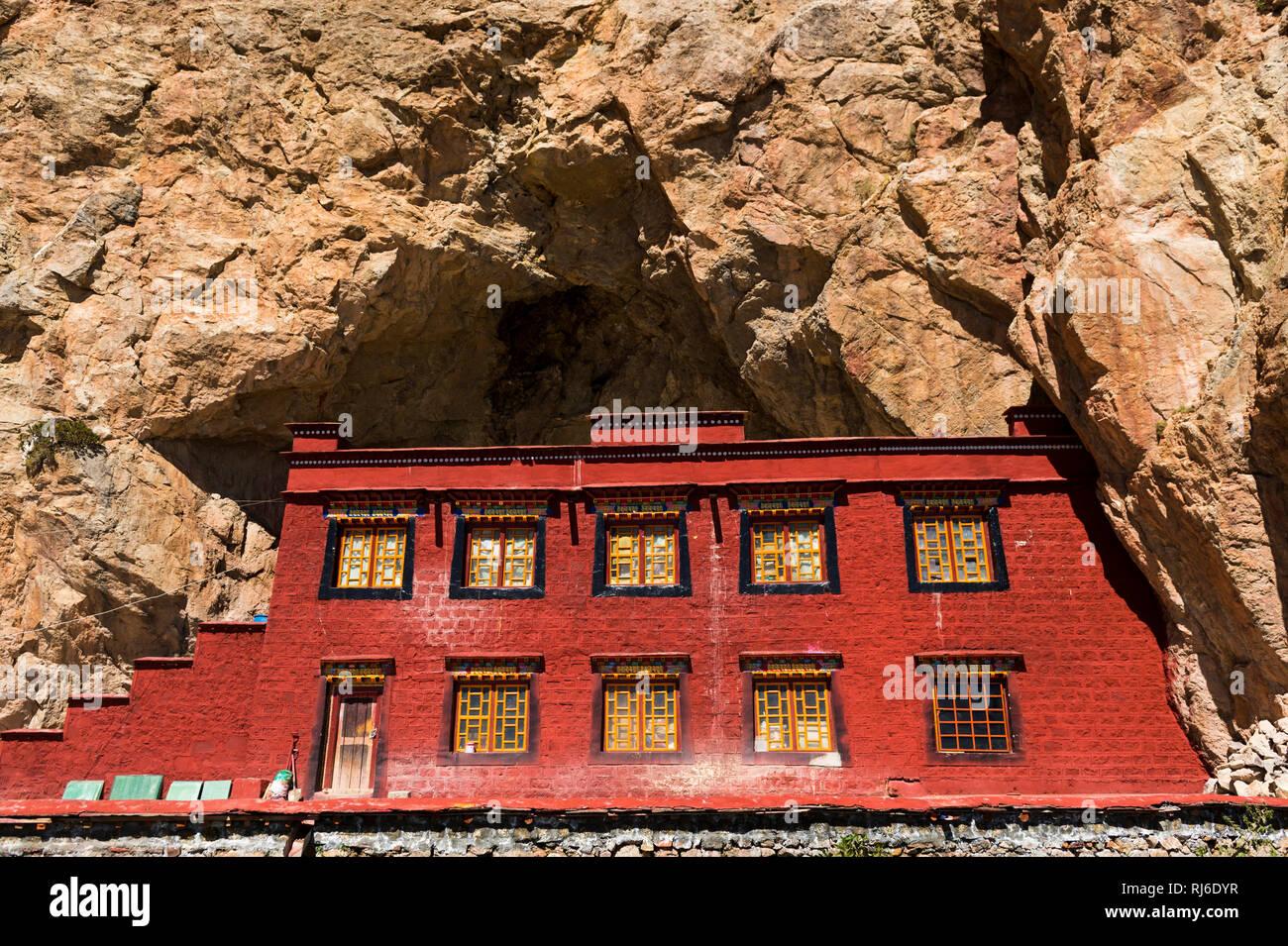 Il Tibet, Tashi Dor Kloster Immagini Stock
