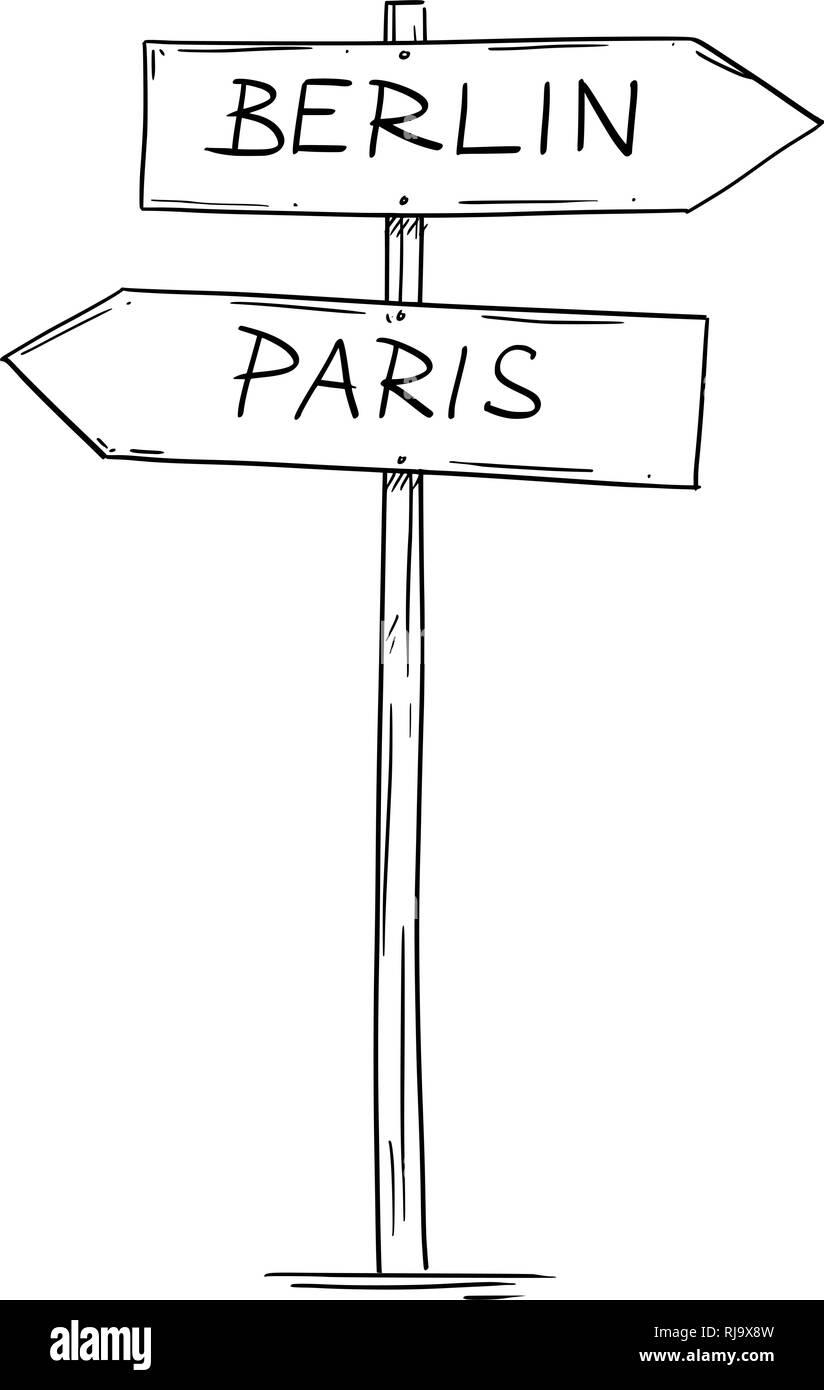 disegno cartello direzionale
