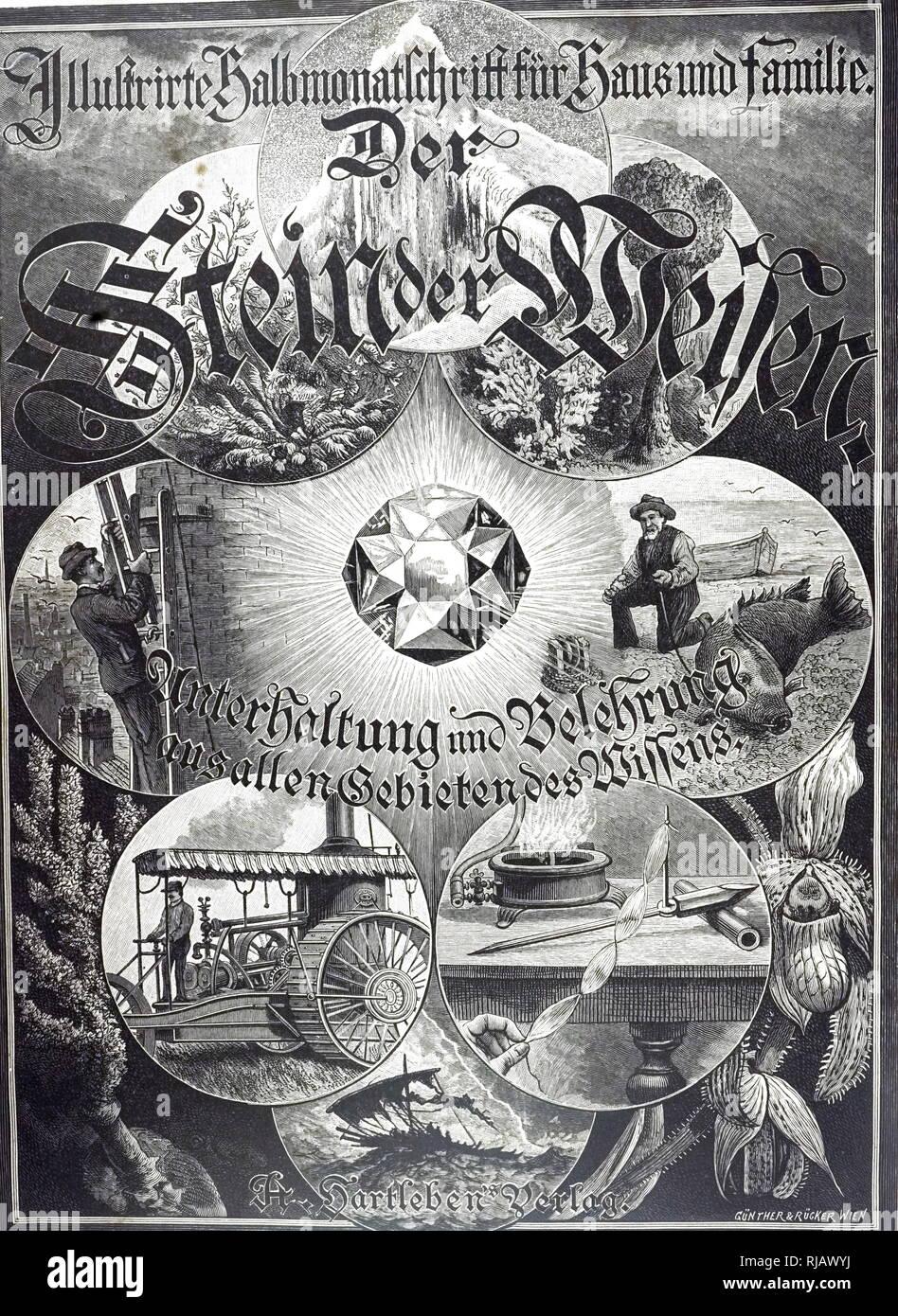 Titolo pagina del Volume 5 di Der Stein der Weisen (la Pietra filosofale). Datata del XIX secolo Immagini Stock