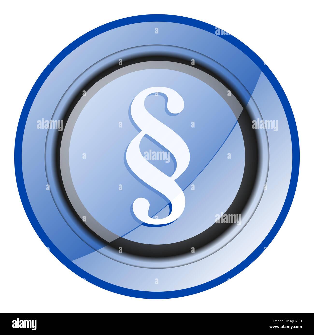 Punto Tondo Blu Lucido Design Web Icon Isolati Su Sfondo Bianco Foto