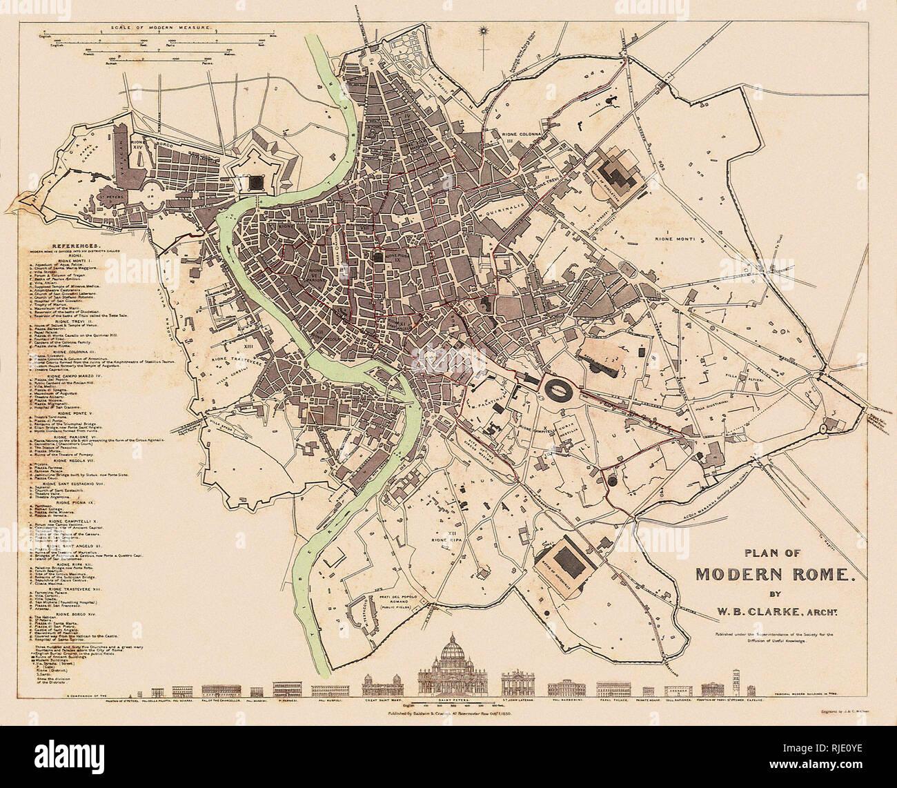 Cartina D Roma.Mappa Di Roma Foto Stock Alamy