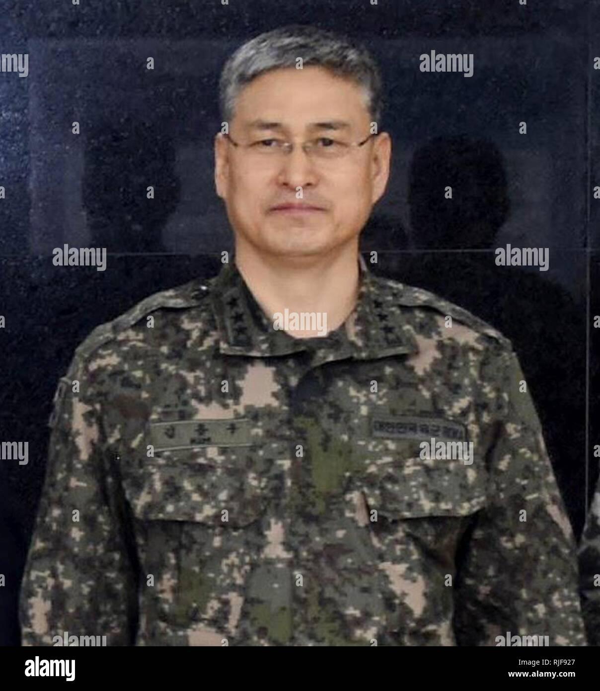 Esercito (ROKA) Il Tenente Generale Kim Comandante di U.S. Flotta del Pacifico sottolinea l importanza della ROK US Naval Partners 0068.jpg Immagini Stock