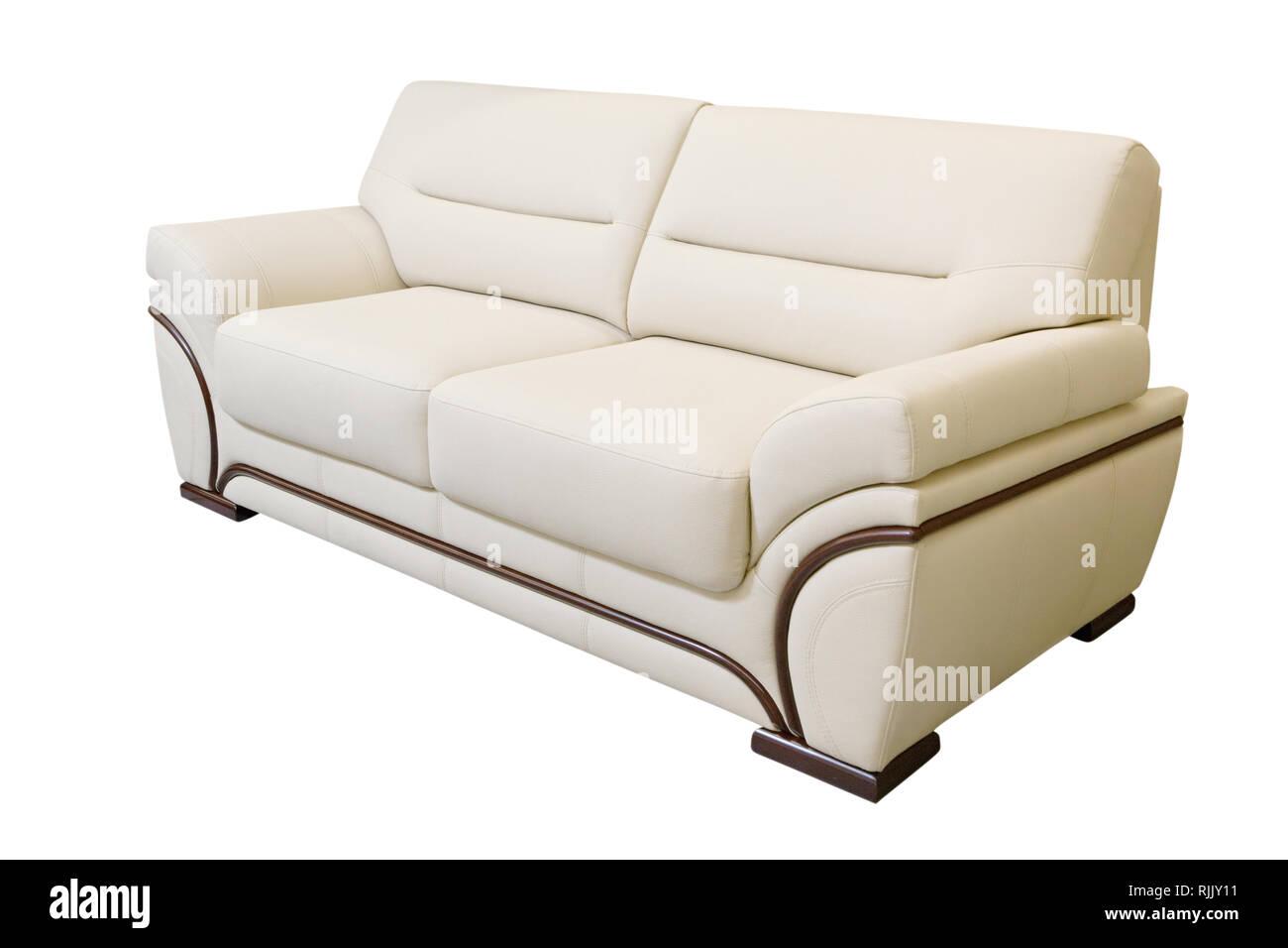 Lavorio Divano In Pelle Isolati Su Sfondo Bianco Foto Immagine