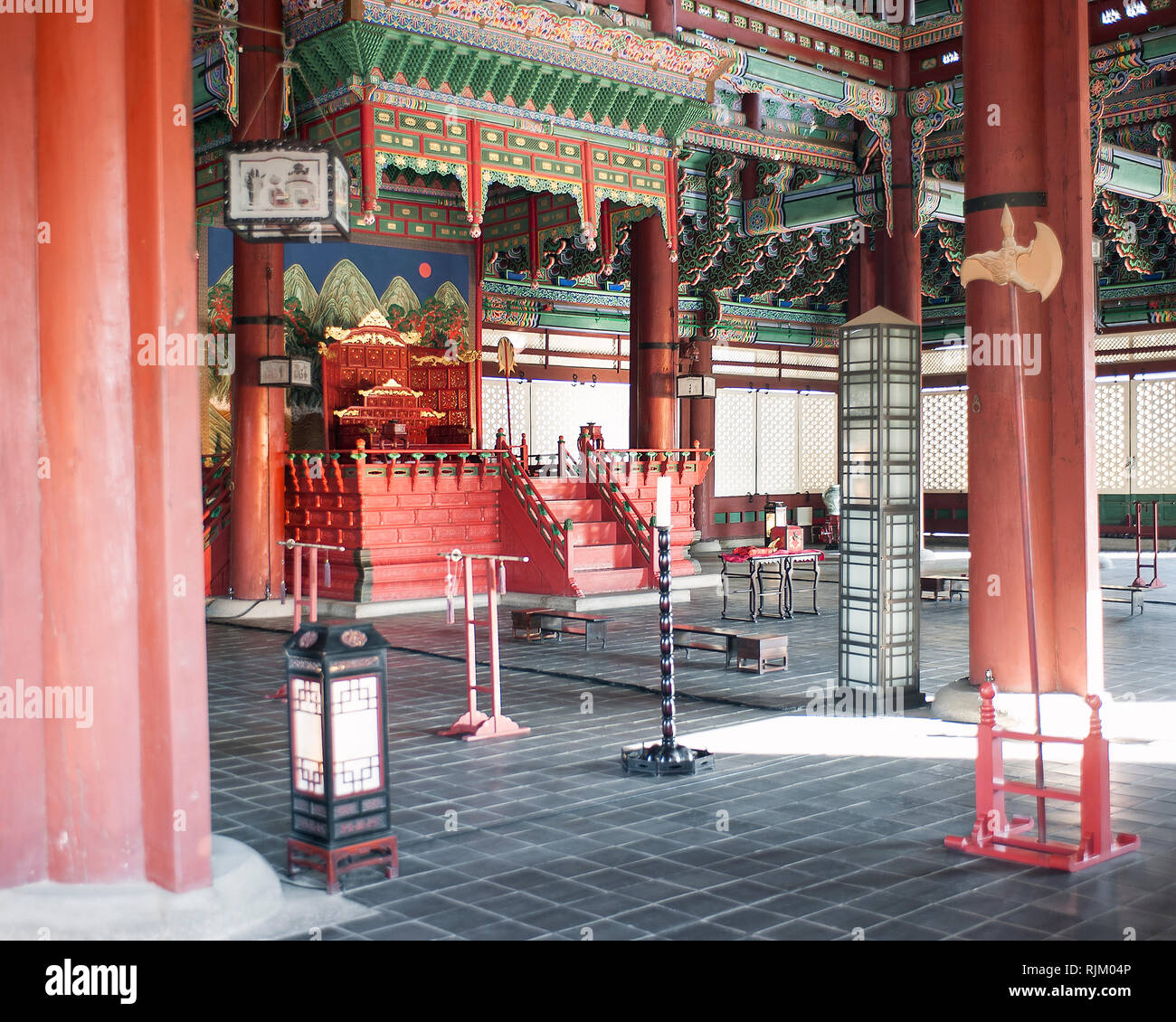 Seoul, Corea del Sud, Gyeongbokgung Palace Foto Stock
