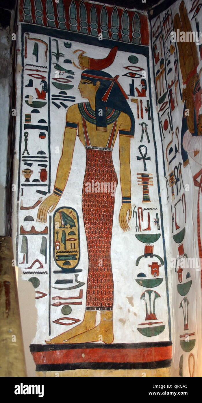 Immagine Pittura Egizia Nefertari - Disegni da colorare ...