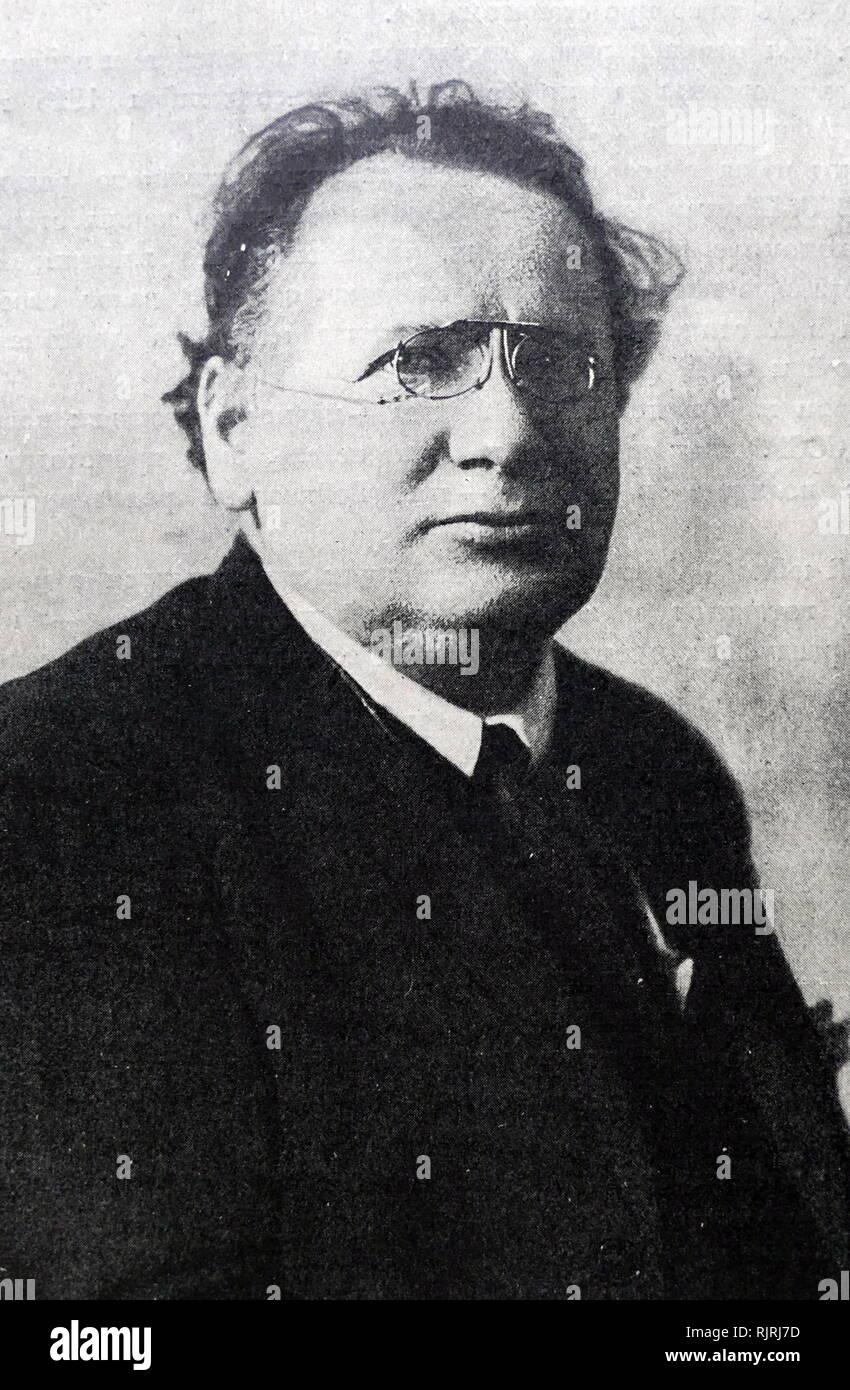 Maxim Litvinoff, (1876-1951). Uomo politico russo e popolare di Commissario per le Relazioni Esterne dell Unione Sovietica (1930-1939). 1926 Immagini Stock