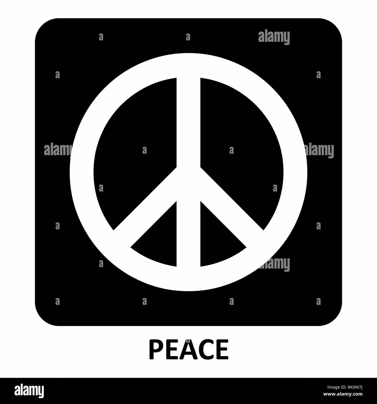 Illustrazione del simbolo di pace su sfondo scuro Immagini Stock