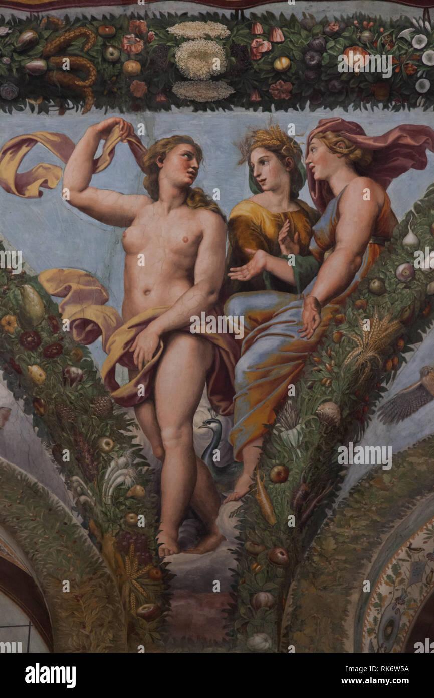 Pegan soffitto, Raphael en workshop Immagini Stock