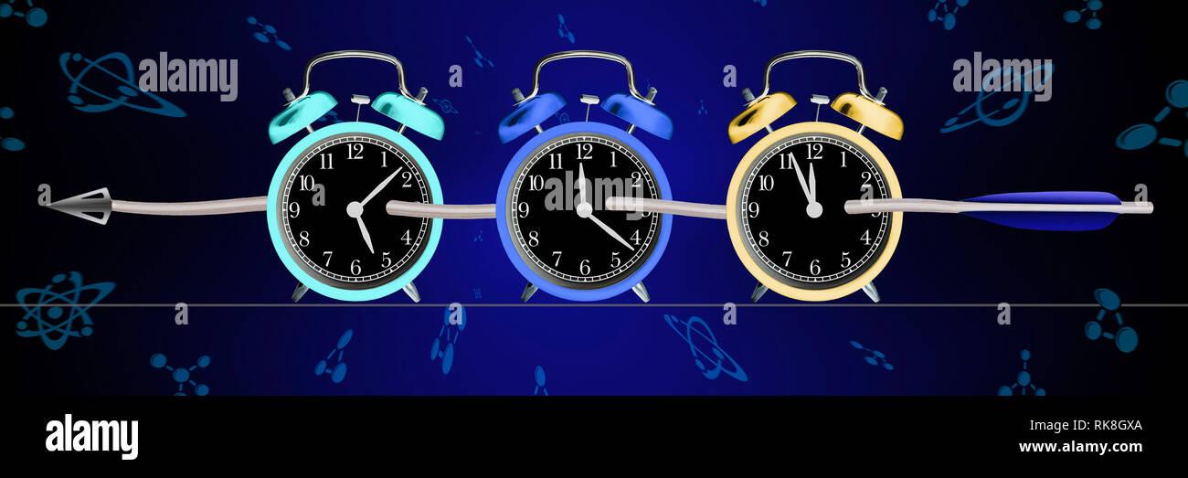 Il concetto della curvatura dello spazio-tempo. Einstein la teoria della relatività Immagini Stock