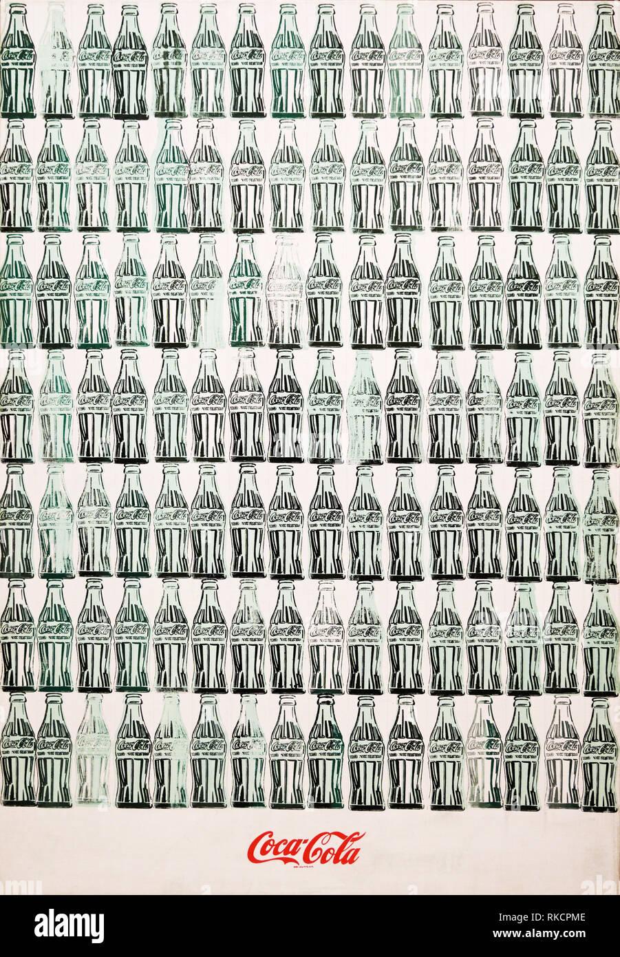 Verde bottiglie di Coca Cola, 1962, Andy Warhol Immagini Stock