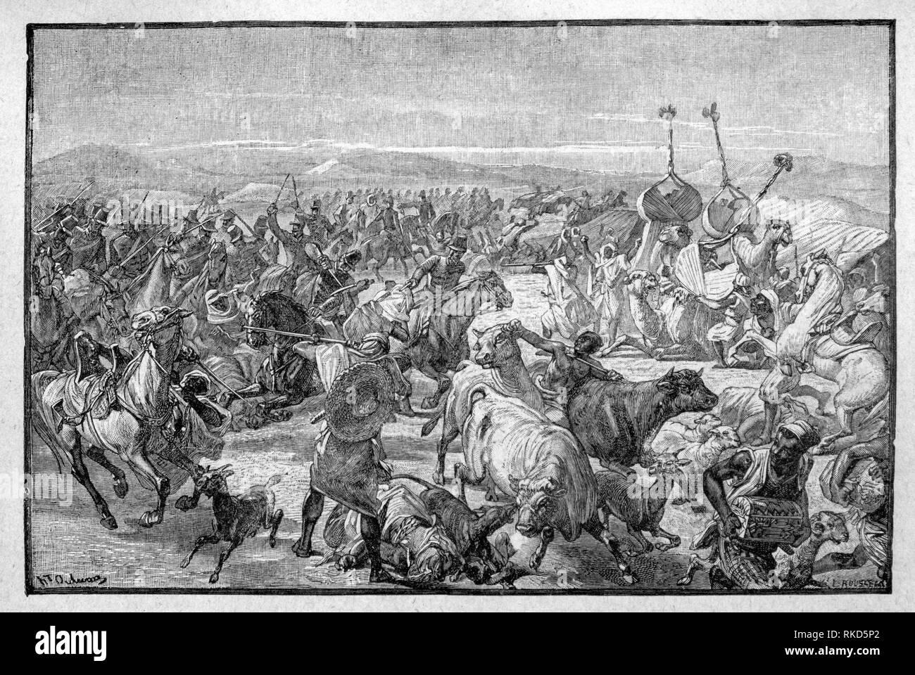 Algeri. Conquista di Algeri, intorno al 1830: la storia di Algeri dal 1830 al 1962 è legato alla storia più grande di Algeria e il suo rapporto con Immagini Stock