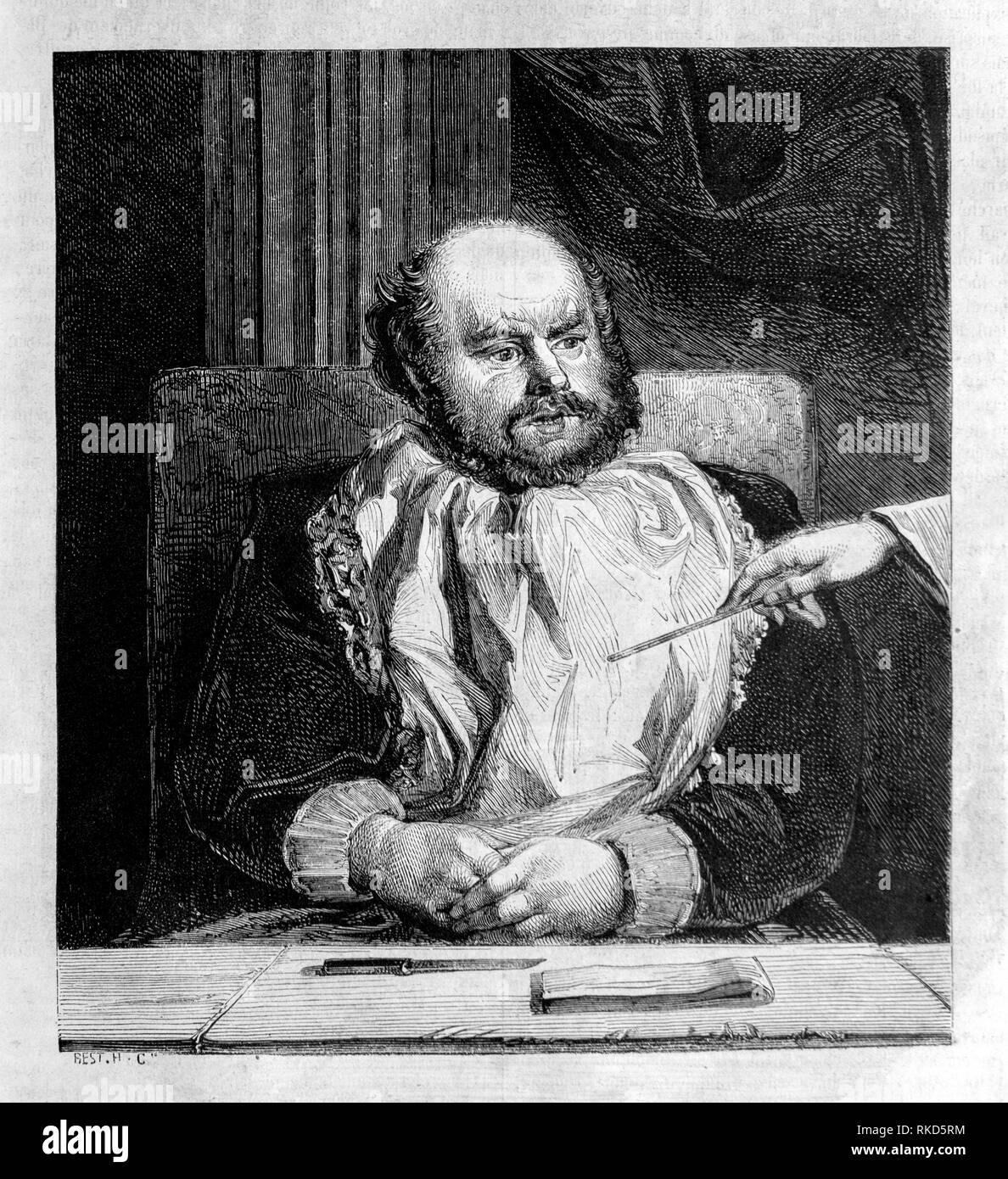 Sancho Panza è un personaggio immaginario nel romanzo Don Chisciotte scritto dall autore spagnolo Don Miguel de Cervantes Saavedra nel 1605. Sancho agisce come Immagini Stock