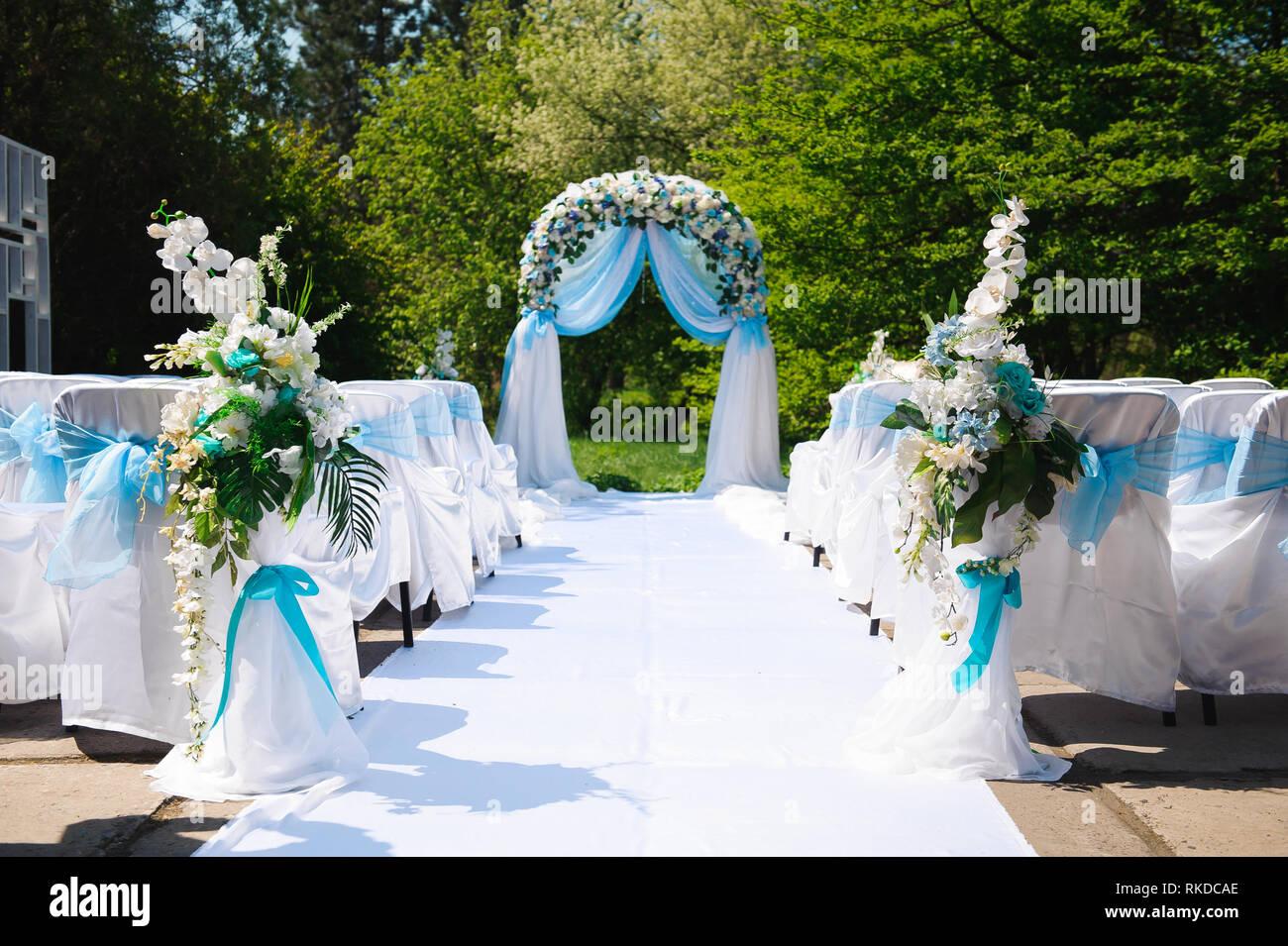 Decorazioni per matrimoni a cerimonia, arredamento bellissimo, wedding arch.