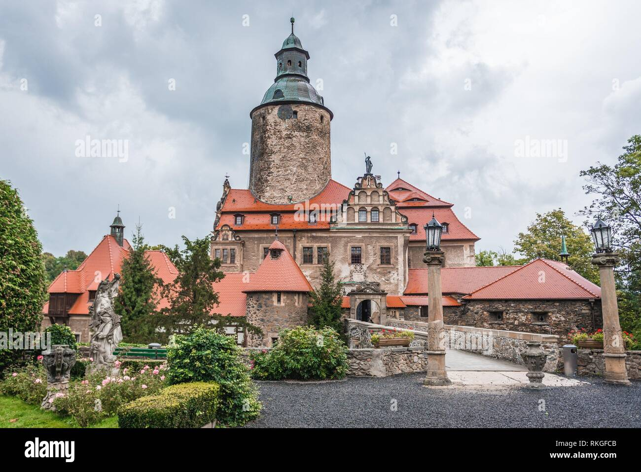 Voivodato Della Slesia Polonia czocha difensivo il castello di sucha village, bassa slesia