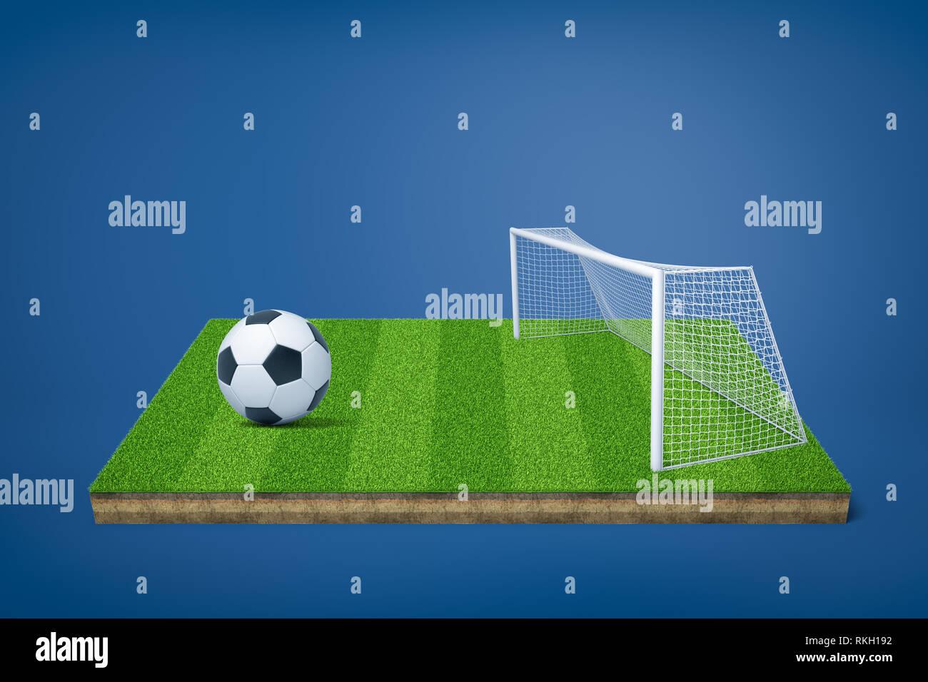 3d Rendering Del Campo Di Calcio Del Modello Con Sfera Di Calcio E