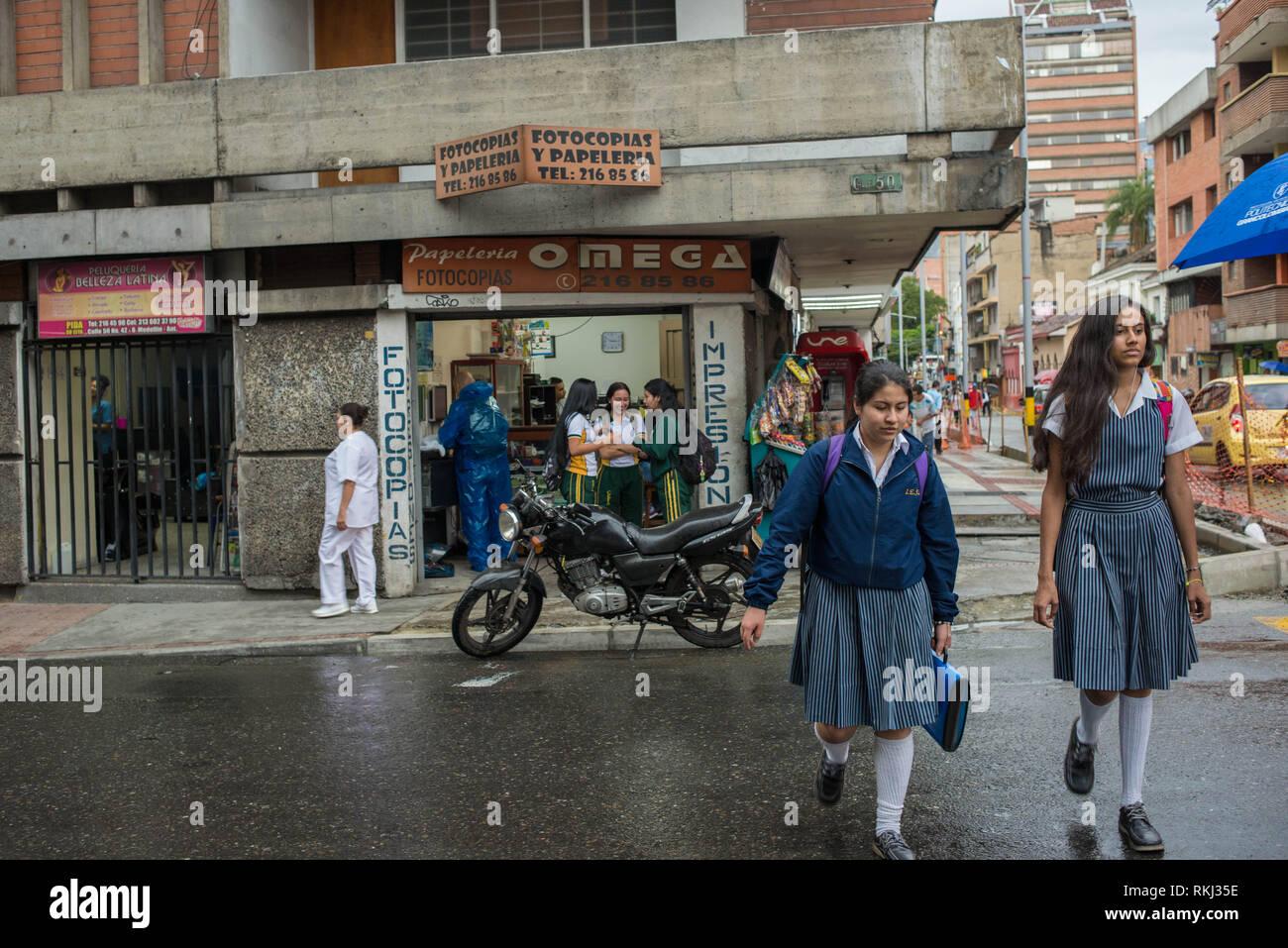 Medellin, Antioquia, Colombia: scene di strada. Immagini Stock