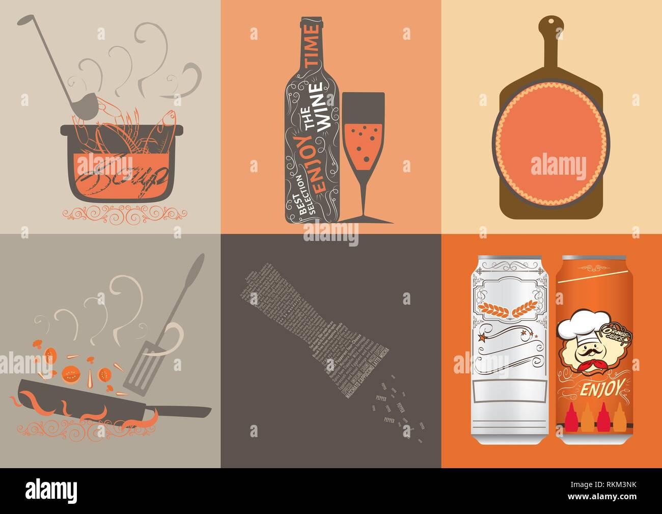 Cucina vettore illustrazione design. Immagini Stock