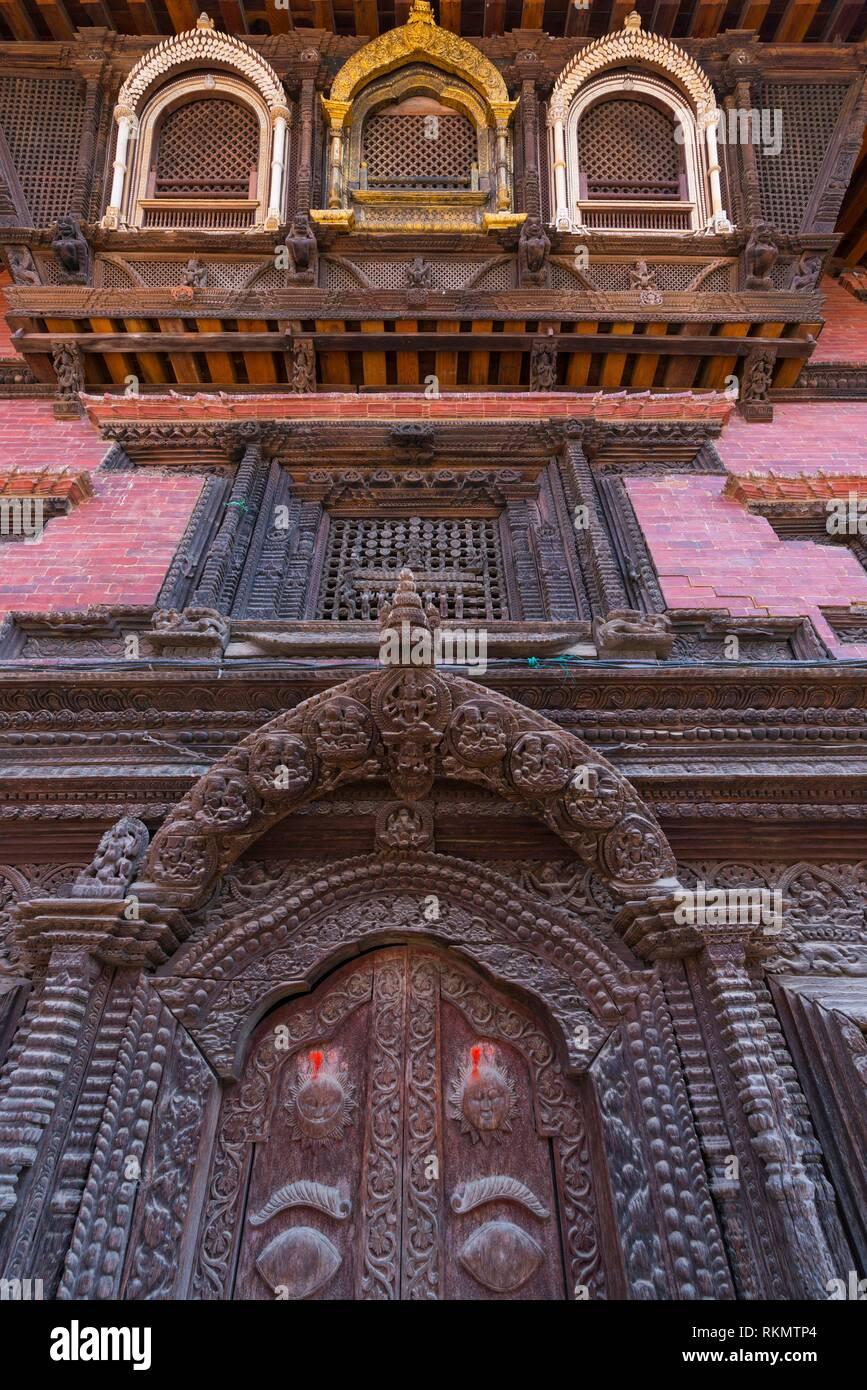 Durbar Marg, Patan, Lalitpur Città Metropolitana, Valle di Kathmandu, Nepal, Asia, Sito Patrimonio Mondiale dell'Unesco. Immagini Stock