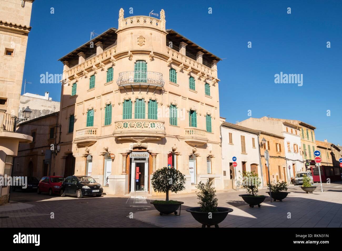 Cas Sant, Campos, Maiorca, isole Baleari, Spagna. Immagini Stock