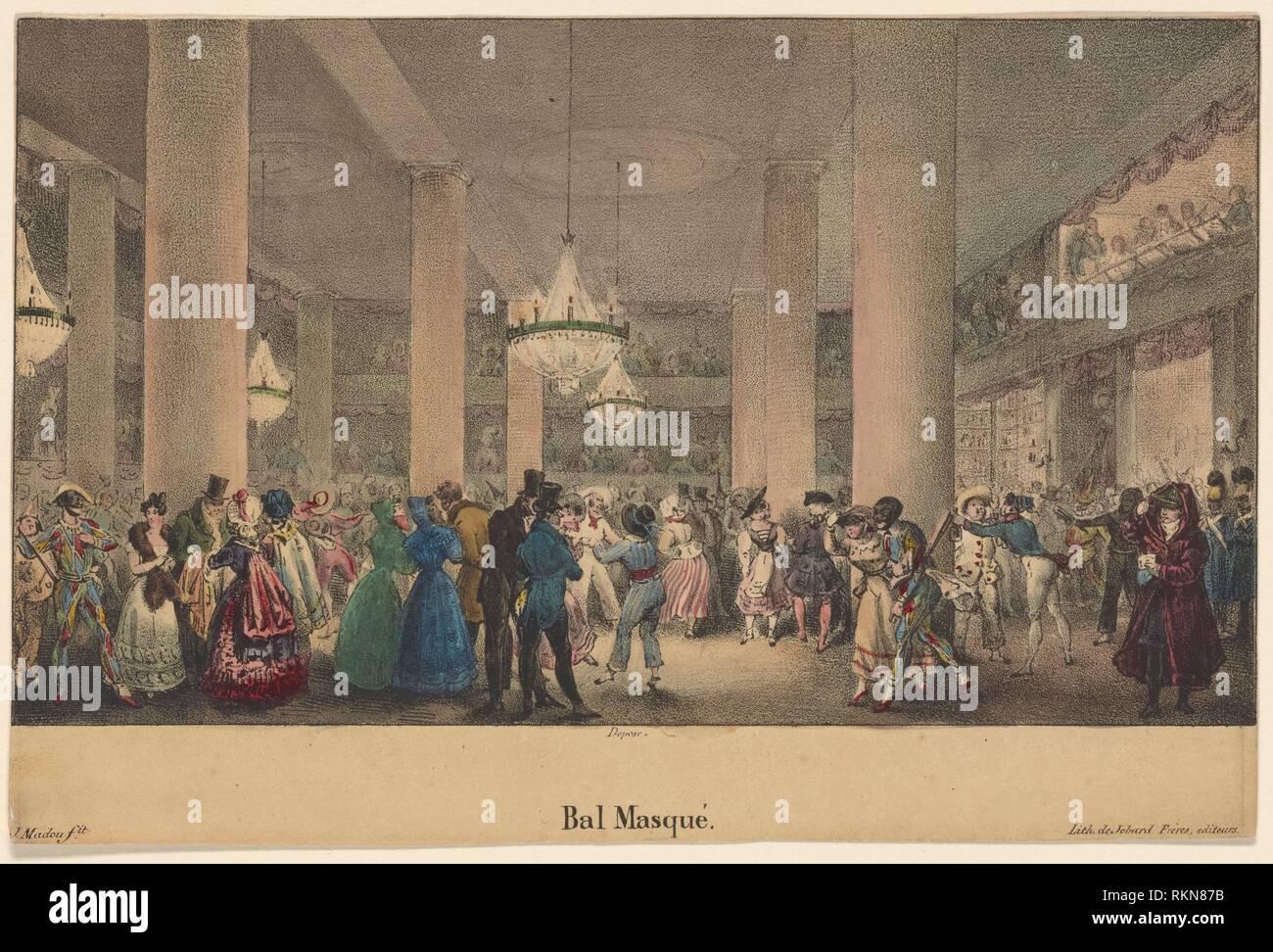 Bal Masque. Madou, Jean-Baptiste, 1796-1877 (litografo). Stampe raffiguranti soggetti di danza. Data di pubblicazione: 1800 - 1899 (approssimativo) Luogo: Parigi Immagini Stock