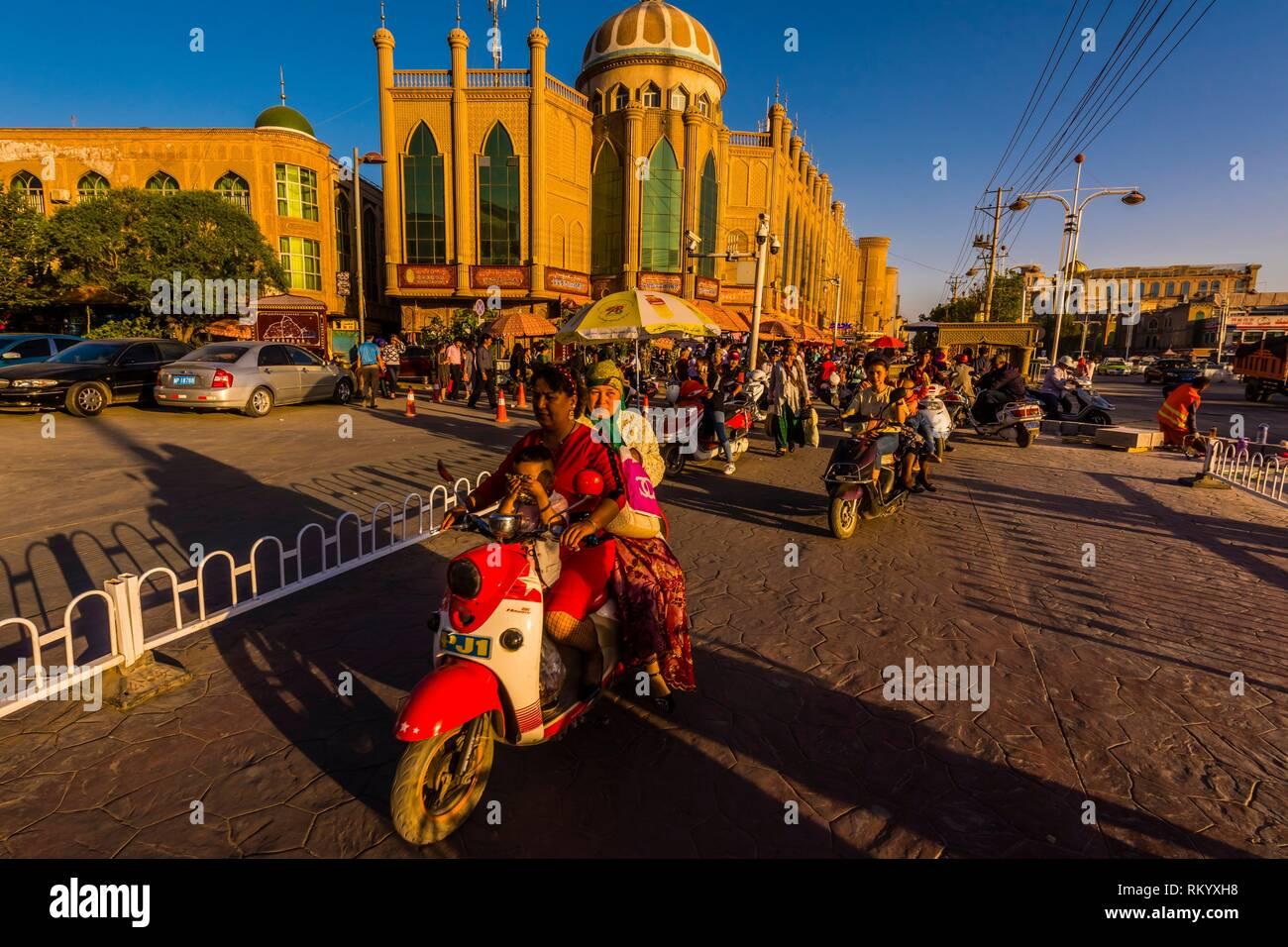 Kashgar è un oasi città nella provincia dello Xinjiang, Cina. È la città più occidentale in Cina, si trova vicino al confine con l Afghanistan, Kirghizistan, Immagini Stock