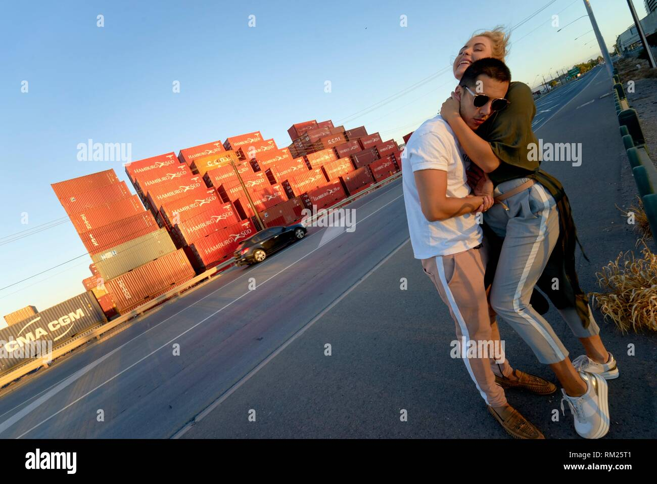 Australia, Adelaide, giovane, amanti, relazione dating, avventura, intimità Immagini Stock