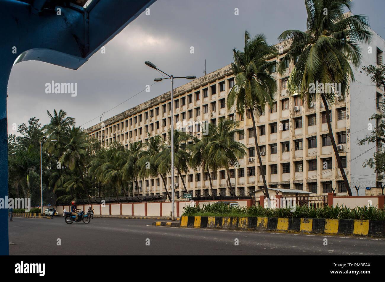 Edificio, Nirmala Devi Marg, Navi Mumbai, Maharashtra, India, Asia Immagini Stock