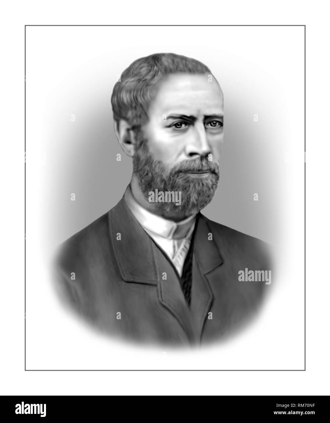 Heinrich Hertz 1857-1894 fisico tedesco Immagini Stock